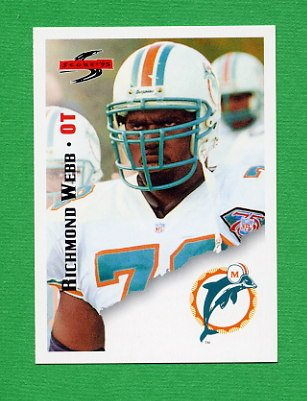 1995 Score Football #142 Richmond Webb - Miami Dolphins