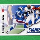 1995 Score Football #079 Chris Calloway - New York Giants