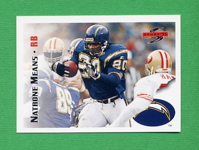 1995 Score Football #076 Natrone Means - San Diego Chargers