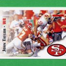 1995 Score Football #060 John Taylor - San Francisco 49ers