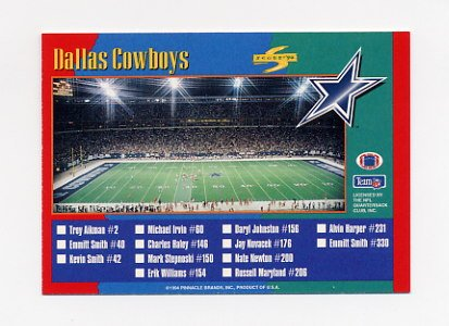 1994 Score Football #309 Dallas Cowboys TC / Denver Broncos TC