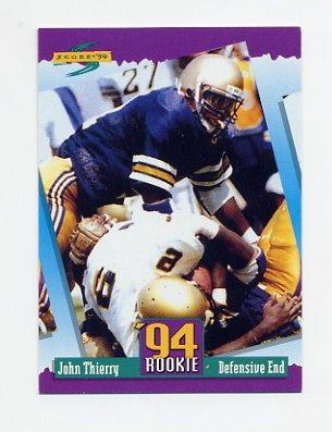 1994 Score Football #297 John Thierry RC - Chicago Bears