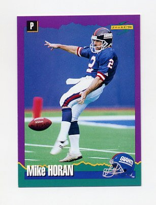 1994 Score Football #225 Mike Horan - New York Giants