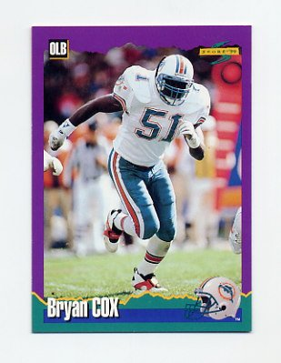 1994 Score Football #199 Bryan Cox - Miami Dolphins