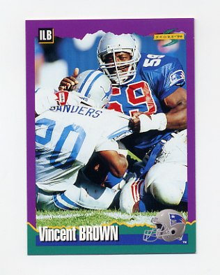 1994 Score Football #186 Vincent Brown - New England Patriots