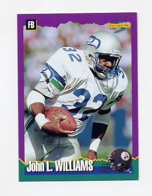 1994 Score Football #166 John L. Williams - Pittsburgh Steelers