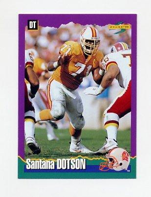 1994 Score Football #159 Santana Dotson - Tampa Bay Buccaneers
