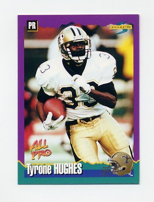 1994 Score Football #106 Tyrone Hughes - New Orleans Saints