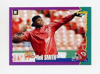 1994 Score Football #063 Neil Smith - Kansas City Chiefs