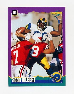 1994 Score Football #033 Sean Gilbert - Los Angeles Rams