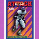1992 Score Football #532 Simon Fletcher SA - Denver Broncos