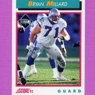 1992 Score Football #468 Bryan Millard - Seattle Seahawks