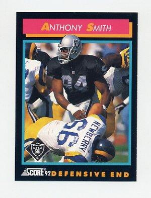 1992 Score Football #417 Anthony Smith - Los Angeles Raiders