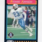 1992 Score Football #383 Richard Johnson - Houston Oilers