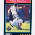 1992 Score Football #366 Norm Johnson - Atlanta Falcons