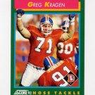 1992 Score Football #271 Greg Kragen - Denver Broncos