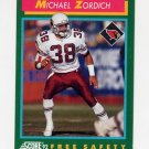1992 Score Football #269 Michael Zordich RC - Phoenix Cardinals