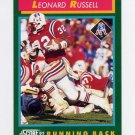 1992 Score Football #259 Leonard Russell - New England Patriots