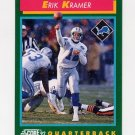 1992 Score Football #247 Erik Kramer - Detroit Lions