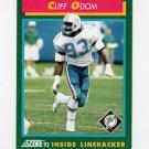 1992 Score Football #232 Cliff Odom - Miami Dolphins