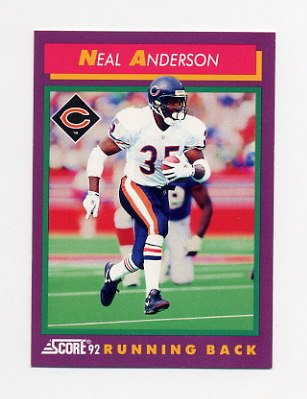1992 Score Football #170 Neal Anderson - Chicago Bears