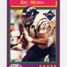 1992 Score Football #162 Eric Moten - San Diego Chargers