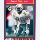 1992 Score Football #138 Jarvis Williams - Miami Dolphins