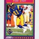 1992 Score Football #133 Todd Lyght - Los Angeles Rams