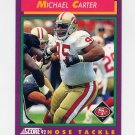 1992 Score Football #126 Michael Carter - San Francisco 49ers