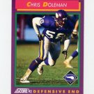 1992 Score Football #119 Chris Doleman - Minnesota Vikings