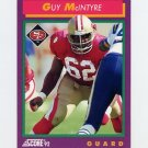 1992 Score Football #115 Guy McIntyre - San Francisco 49ers