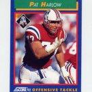 1992 Score Football #098 Pat Harlow - New England Patriots