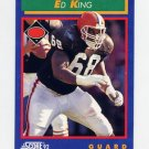 1992 Score Football #088 Ed King - Cleveland Browns