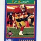 1992 Score Football #055 Tom Rathman - San Francisco 49ers