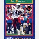 1992 Score Football #018 Tim McDonald - Phoenix Cardinals