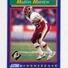 1992 Score Football #008 Martin Mayhew - Washington Redskins