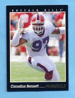 1993 Pinnacle Football #068 Cornelius Bennett - Buffalo Bills