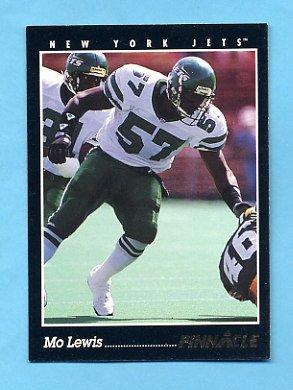 1993 Pinnacle Football #067 Mo Lewis - New York Jets