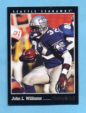 1993 Pinnacle Football #058 John L. Williams - Seattle Seahawks