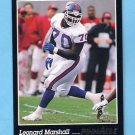 1993 Pinnacle Football #034 Leonard Marshall - New York Jets NM-M