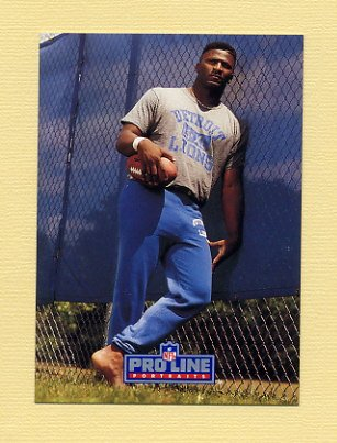 1991 Pro Line Portraits Football #299 Bennie Blades - Detroit Lions