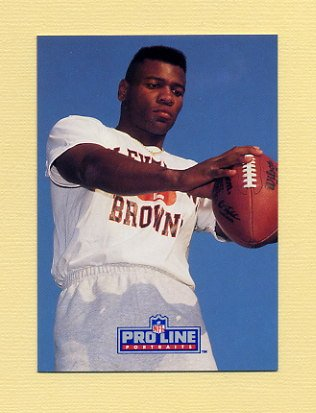 1991 Pro Line Portraits Football #282 Eric Turner RC - Cleveland Browns NM-M