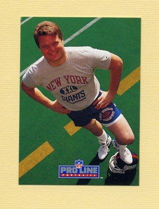 1991 Pro Line Portraits Football #191 Bart Oates - New York Giants