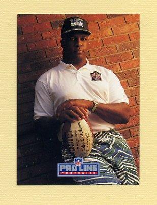 1992 Pro Line Portraits Football #407 John L. Williams - Seattle Seahawks