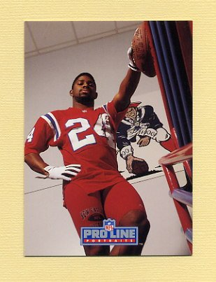 1992 Pro Line Portraits Football #400 Jon Vaughn - New England Patriots