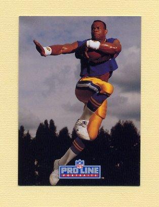 1992 Pro Line Portraits Football #343 Robert Delpino - Los Angeles Rams