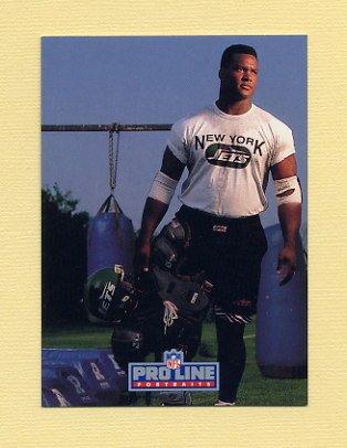 1992 Pro Line Portraits Football #308 Johnny Mitchell RC - New York Jets