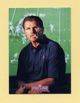 1992 Pro Line Profiles Football #495 Mike Ditka CO - Chicago Bears