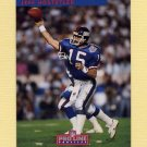 1992 Pro Line Profiles Football #271 Jeff Hostetler - New York Giants