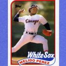 1989 Topps Baseball #786 Melido Perez - Chicago White Sox